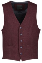 Gilet Roy Robson rood wol