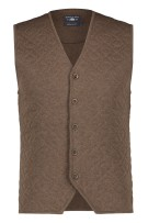 Gilet State of Art bruin regular fit