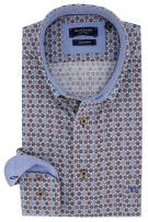 Giordano Regular Fit shirt blauw  rood print