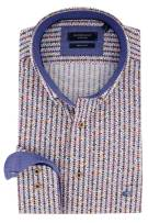 Giordano shirt Regular Fit blauw oranje print