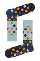 Happy Socks Big Dot Block Sock blauw navy