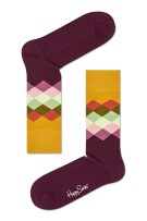 Happy Socks faded diamond sokken bordeaux