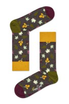 Happy Socks fall sokken groen bladprint