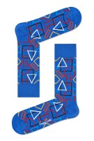 Happy Socks Geometric Sock blauw