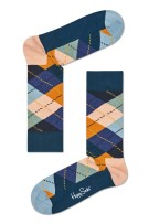 Happy Socks geruit Argyle sok multi blauw oranje