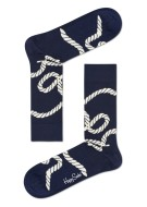 Happy Socks Herensokken Beige Donkerblauw Print