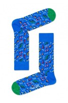 Happy Socks Herensokken Blauw Print