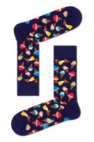 Happy Socks Herensokken Donkerblauw Print