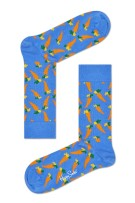 Happy Socks Herensokken Oranje Blauw Print