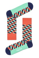 Happy Socks Herensokken Rood Groen Print