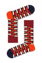 Happy Socks Herensokken Rood Oranje Print