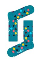 Happy Socks Herensokken Turquoise Print