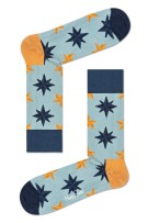 Happy Socks Nautical Star Sock lichtblauw