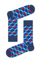 Happy Socks Optic Squre blauw