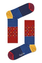 Happy Socks Stripes & Dots Sock navy rood multi