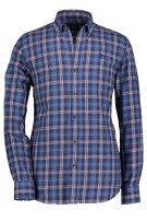 Hemd State of Art blauw roze ruit button down