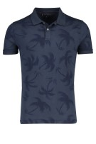 Hilfiger polo Big & Tall palmprint navy