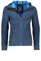 Hooded Superdry softshell jack jeans blauw