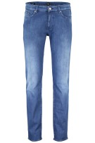 Hugo Boss 5-Pocket Broek Blauw Effen Normale fit
