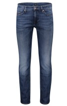 Hugo Boss 5-Pocket Broek Blauw Effen Slim fit