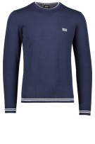 Hugo Boss Big & Tall trui navy wit logo