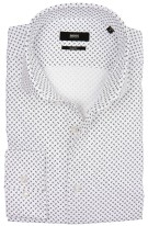 Hugo Boss business overhemd print mouwlengte 7