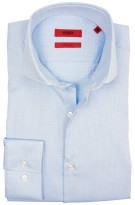 Hugo Boss dress shirt structuur  lichtblauw