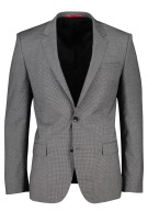 Hugo Boss Kostuum Grijs Geruit Slim fit