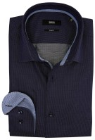 Hugo Boss overhemd slim fit donkerblauw
