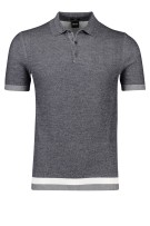 Hugo Boss polo Filberto slim fit grijs melange