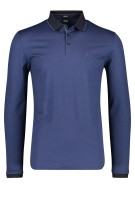 Hugo Boss polo lange mouw navy regular fit
