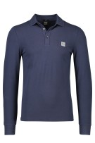 Hugo Boss polo Passerby Casual lange mouw blauw
