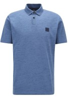 Hugo Boss Polo Shirt Blauw Gemêleerd Normale fit