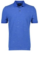 Hugo Boss Polo Shirt Blauw Print Gemêleerd Normale fit