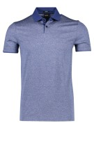Hugo Boss Polo Shirt Donkerblauw Gemêleerd Slim fit