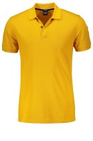Hugo Boss Polo Shirt Geel Effen Normale fit