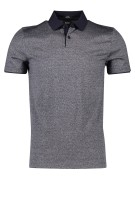 Hugo Boss Polo Shirt Grijs Gemêleerd Slim fit