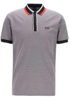 Hugo Boss Polo Shirt Zwart Gemêleerd Normale fit