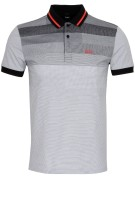Hugo Boss Polo Shirt Zwart Print Gemêleerd Normale fit