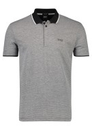 Hugo Boss polo zwart wit B-Paddy 2  Big & Tall