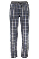 Hugo Boss Pyjamabroek Grijs Blauw Geruit Normale fit