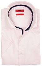Hugo Boss shirt korte mouw roze  regular fit