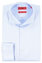 Hugo Boss shirt slim fit mouwlengte 7 blauw