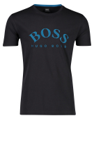 Hugo Boss T-shirt Donkerblauw Effen Print Slim fit