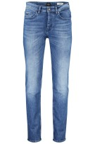 Hugo Boss tapered fit jeans blauw 5-pocket