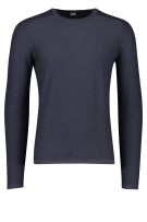 Hugo Boss Trui Donkerblauw Effen Slim fit