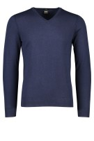 Hugo Boss trui Kwesilrow v-hals slim fit navy