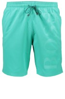 Hugo Boss Zwemshort Turquoise Effen Normale fit