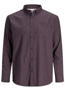 Jack & Jones Plus Size overhemd aubergine