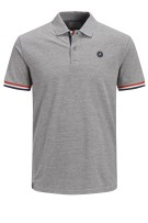 Jack & Jones Plus Size polo korte mouw grijs